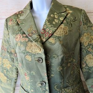 Kaity Green Floral Jacket Size L